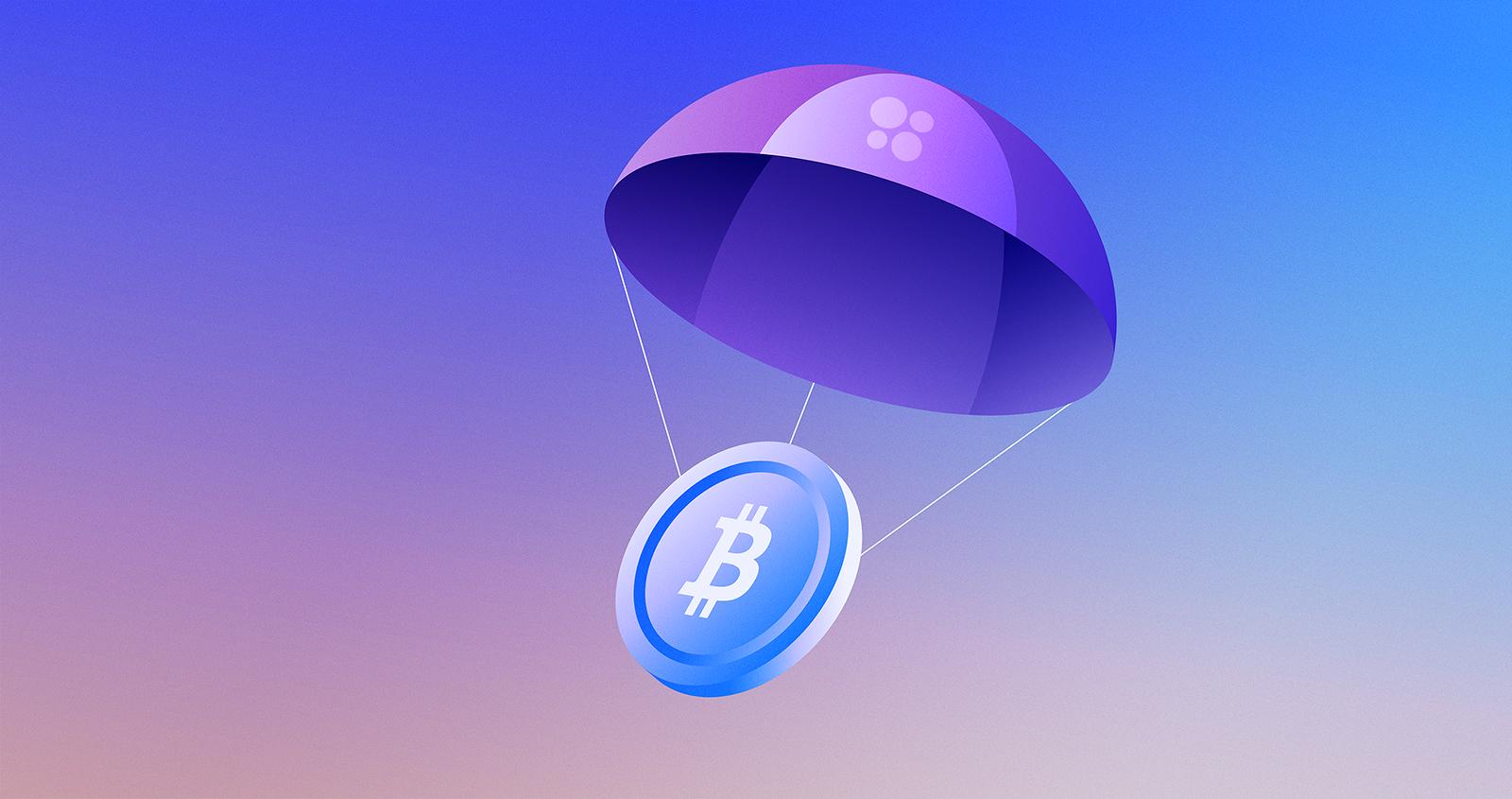 OKCoin trade DeFi get free bitcoin airdrop